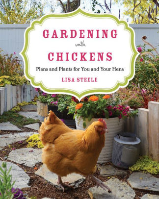 image of book : gardening with chickens